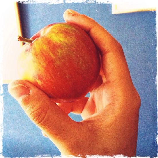 Apple Fruits Red Hand
