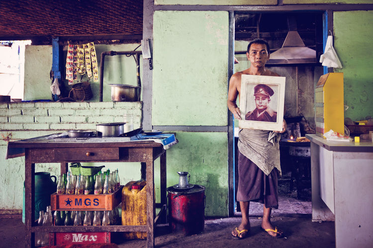 Aung San Portrait. A tea shop owner shows a picture of his hero, Aung San, who is also the hero of Myanmar and the father of Aung San Suu Kyi Aung San Aung San Suu Kyi Bagan, Myanmar Dirty Place Frame Myanmar Portrait Pride Tea Shop Tradition First Eyeem Photo