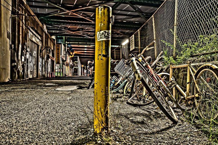 Graffiti on walkway