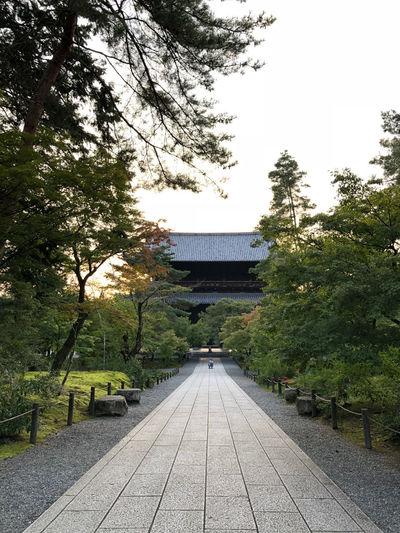 Along the Tetsugaku-no-michi (Philosopher's Path) in east Kyoto Tree Diminishing Perspective Footpath Japnesese Building Japanese Culture Japanese Religion Tetsugaku No Michi