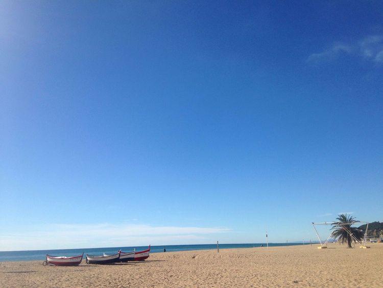 Calella mediterranean Winter Beach Maresme Sun