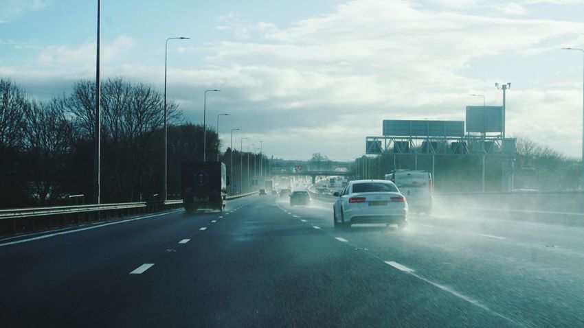 Traffic Motorway Motorways Motorway View Spraying Spraying Water Road Roadtrip Roads EyeEm Gallery Social Issues Transportation Torrential Rain City Road Outdoors Fog Sky Water Day