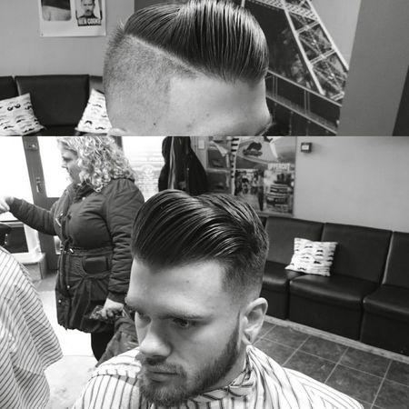 Skinfade undercut pompadour, bit of pomade to keep it up Barber Shop Barber Barberlife Barbershopconnect Barbergang Barberstyle