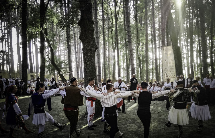 Beauty In Nature Bulgarian Folklore Dances Horo Large Group Of People Nature Outdoors People Zheravna
