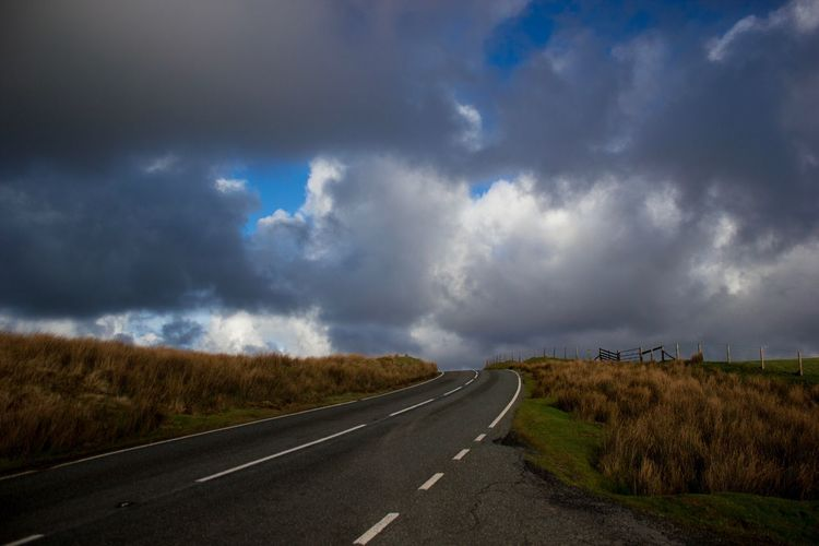Road The Way Forward Cloud - Sky Sky Transportation Day No People Tranquil Scene Landscape Nature Tranquility Outdoors Scenics Beauty In Nature Grass Preseli Hills Pembrokeshire Fluffy Clouds Clouds And Sky Dramatic Sky