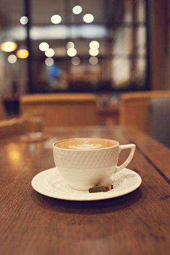 Hot latte in a