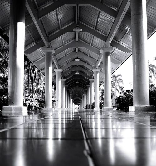 long Vacation Holiday Sony Fullframe Photography Blackandwhite Monochrone Bnw Close Architecture Architectural Column Indoors  Built Structure Corridor No People Day