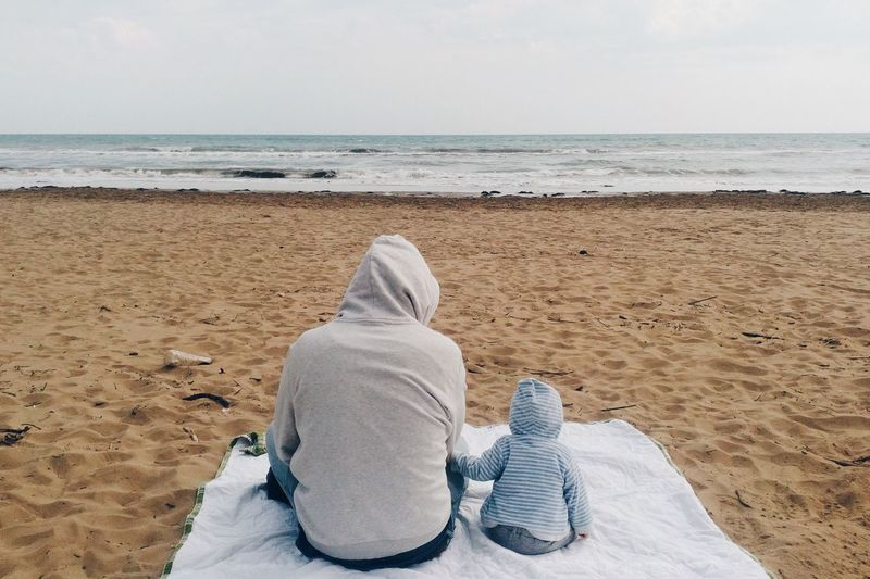 Farherhood First Eyeem Photo Beach Sea Fatherhood Moments Father & Son EyeEmNewHere Breathing Space The Week On EyeEm This Is Family