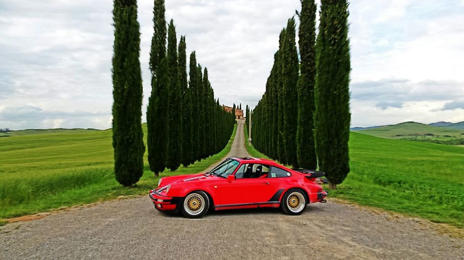 Taking Photos Porsche Landscape Tuscany