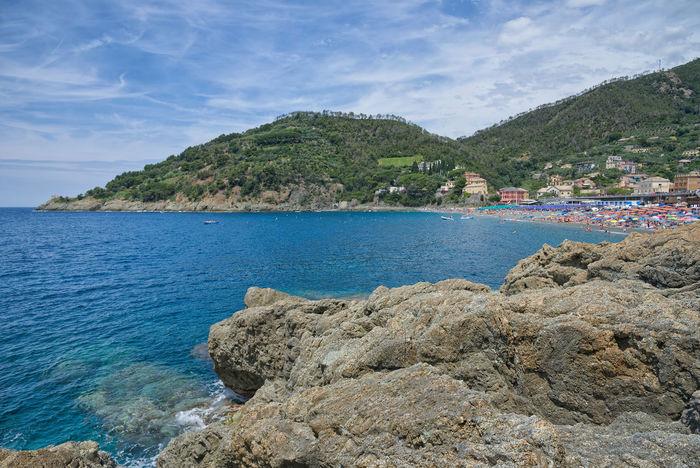 Bonassola coastline - Ligurian Sea - Liguria - Italy Bonassola Beach Beauty In Nature Cloud - Sky Day Formation Idyllic Land Liguria Mountain Nature No People Non-urban Scene Outdoors Plant Rock Rock - Object Rocky Coastline Scenics - Nature Sea Sky Solid Tranquil Scene Tranquility Water