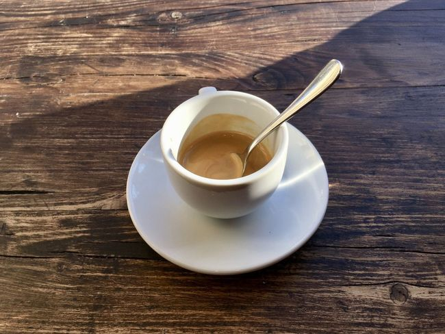 Café Impala Espresso Close-up Day Drink Food And Drink Freshness High Angle View Indoors  No People Refreshment Saucer Table Wood - Material