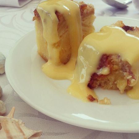 Lovely dessert! Dessert Cake Raising Delicious applecustard musttry thumbsup love today custard limited perfect
