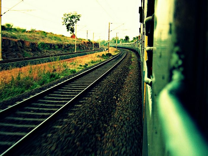 The Best Of All The Best ❤ Favorites One Natures On The Way India Train Out Of Window Risk For Click Risk For Photography Risk For Passion Passion For Life In Motion Train By Side INDIA.. 😊