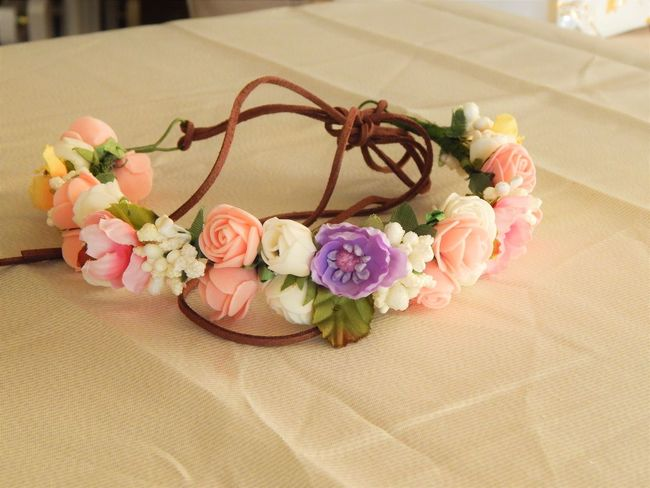 Flower crown EyeEmNewHere Birthday Birthday Crown Birthday Flowers Bouquet Celebration Celebration Event Close-up Flower Flower Crown Flowers Fragility Indoors  No People Pink Color Pink Flower Rose - Flower Table Wedding