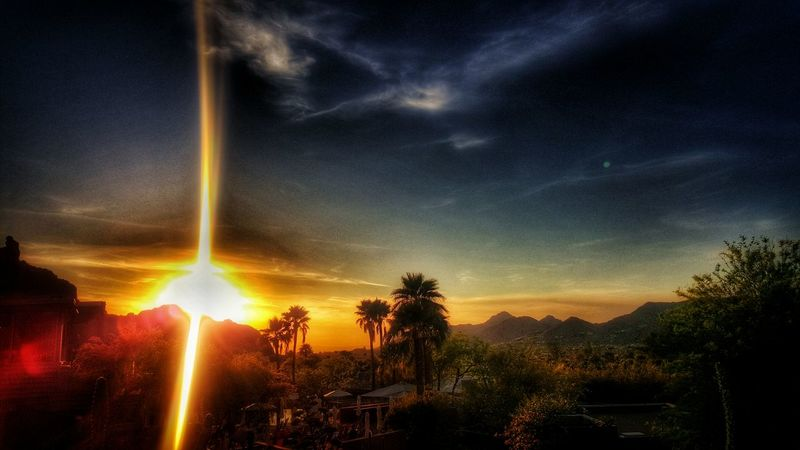 Eye4photography  Mountain View Fire In The Sky Sunset #sun #clouds #skylovers #sky #nature #beautifulinnature #naturalbeauty #photography #landscape Wedding Photography Paradise EyeEm Best Shots Sunset Mountain Sunset_collection Landscape Beauty In Nature Scenics Arizona