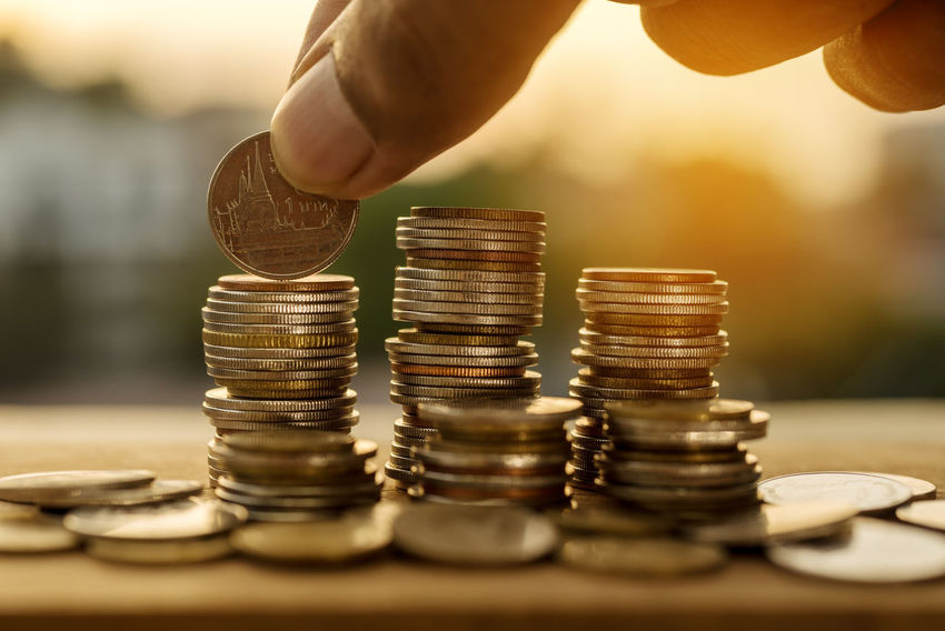 Stack of coin for finance and banking concept Accountancy Growing Growth Account Accountant Accounting Bank Banking Calculate Close-up Coin Concept Earnings Finance Financial Fund Income Invesment Invest Investing Investor Money Save Savings Stacking