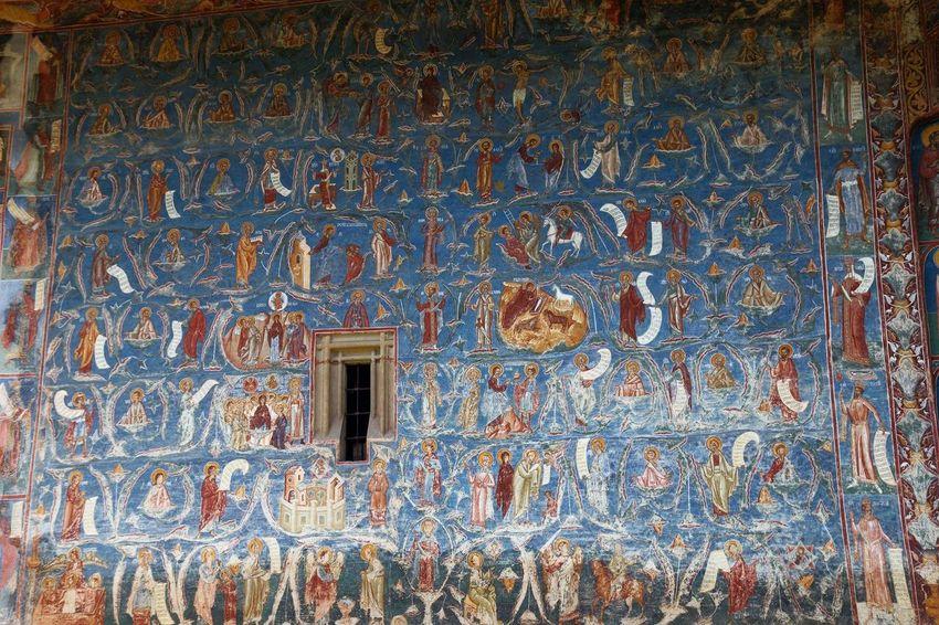 Wall Paint Voronet Romanian Monastery Monastery