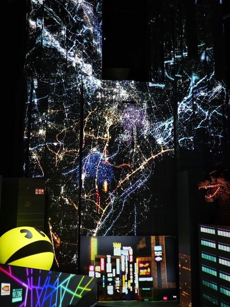 Miniature Tokyo Government Building Projection Mapping Art Exhibit Colors Lights Pacman Godzilla Hello World Enjoying Life Taking Photos From My Point Of View Tokyo Art City Exhibition Tokyo, Japan