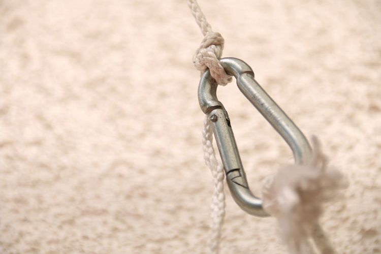 Close-up of carabiner