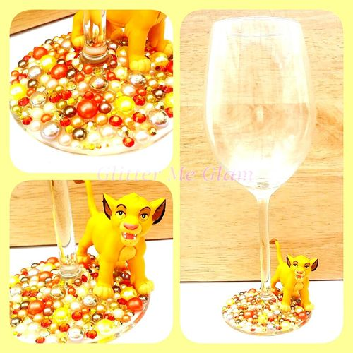 Wineglass Wine Glass Relaxing Newmake Craft Glittermeglam Madebyme Simba Lionking
