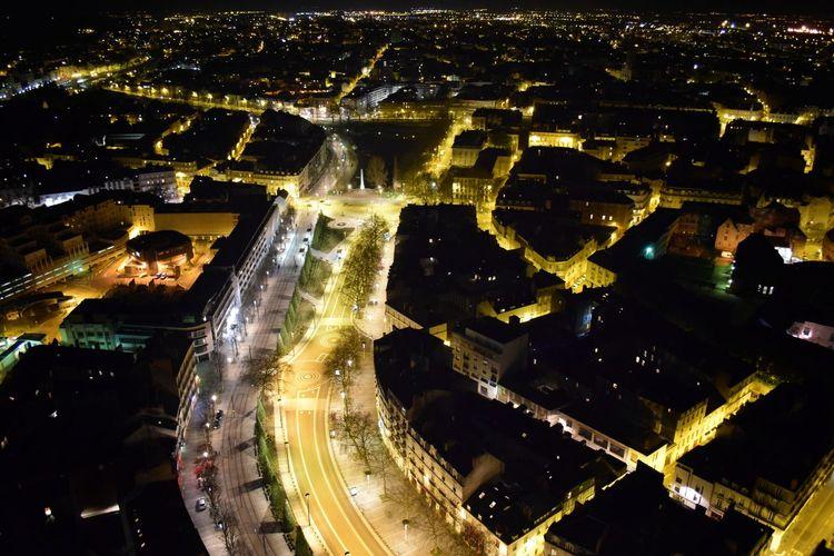 Nantes France Tour Bretagne Night Nightphotography Night City City City Life Cityscape Architecture A Bird's Eye View