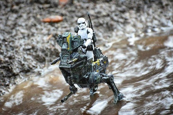 These waters are no match for my custom walker! Toyonlocation Toy_nerds Toyoutsiders Starwars TheForceAwakens Stormtrooper Customized Customtoy Custompaint Disney Toptoyphotos Toydiscovery Toygroup_alliance _tyton_ Ata_dreadnoughts Toyslagram Capturedplastic Toycrewbuddies Toyjuice Pensacola_toynerds Toyark Epictoyart Wherethetoysdwell_photofeatures Justanothertoygroup