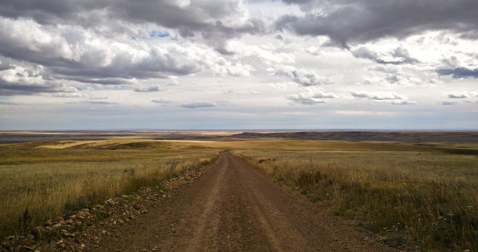 A lonely country road in saskatchewan