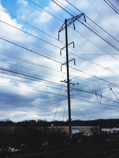 Railroad Powerlines Power Lines Train Station