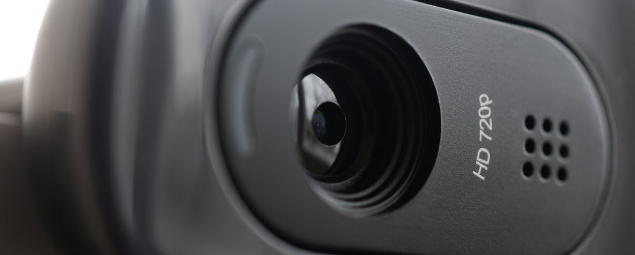 Close-up of webcam