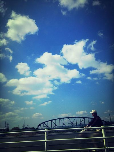 Taking Photos Clouds And Sky Bridges