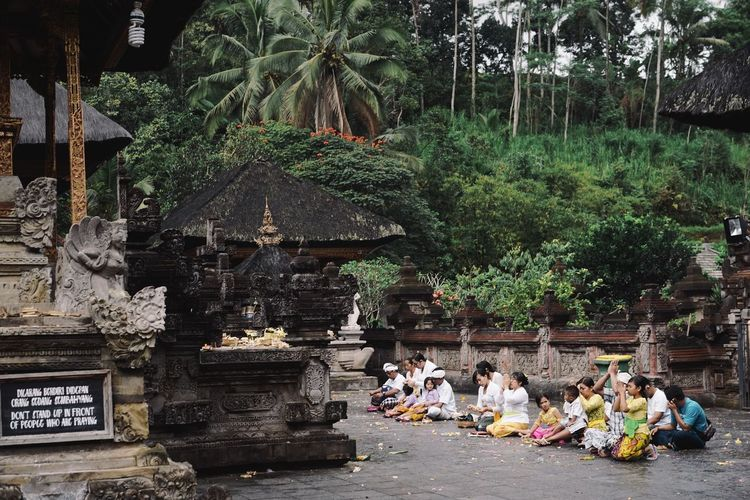 Hindu Hinduism Architecture Built Structure Day Hindu Temple Nature Outdoors Plant Tree Ubud