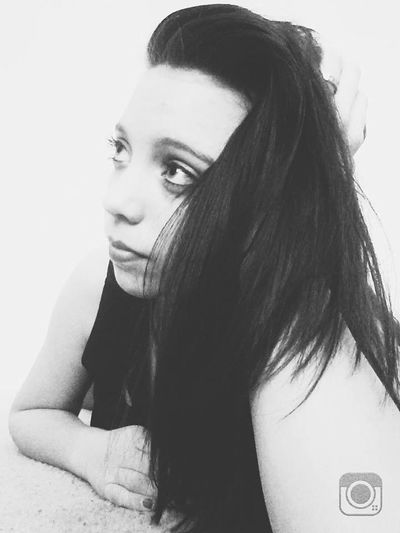 Beauty Black Hair Close-up Confidence  Contemplation Headshot Person Portrait Serious Studio Shot White Background Young Women