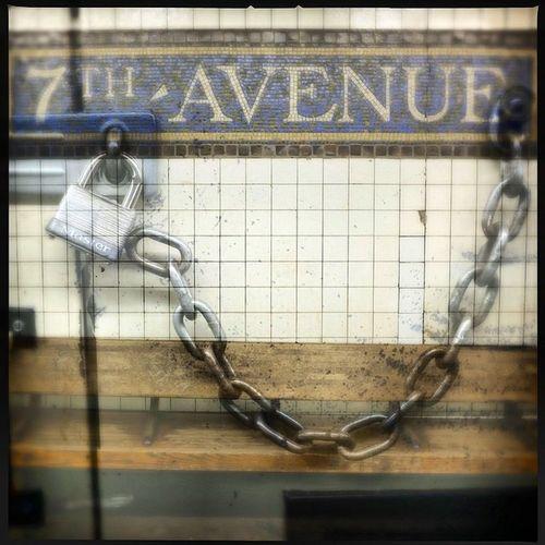 NYC Streetphotography Subway Urban Brooklyn Colorphotography Nycsubway Doubleexposure Masterlock 7thave