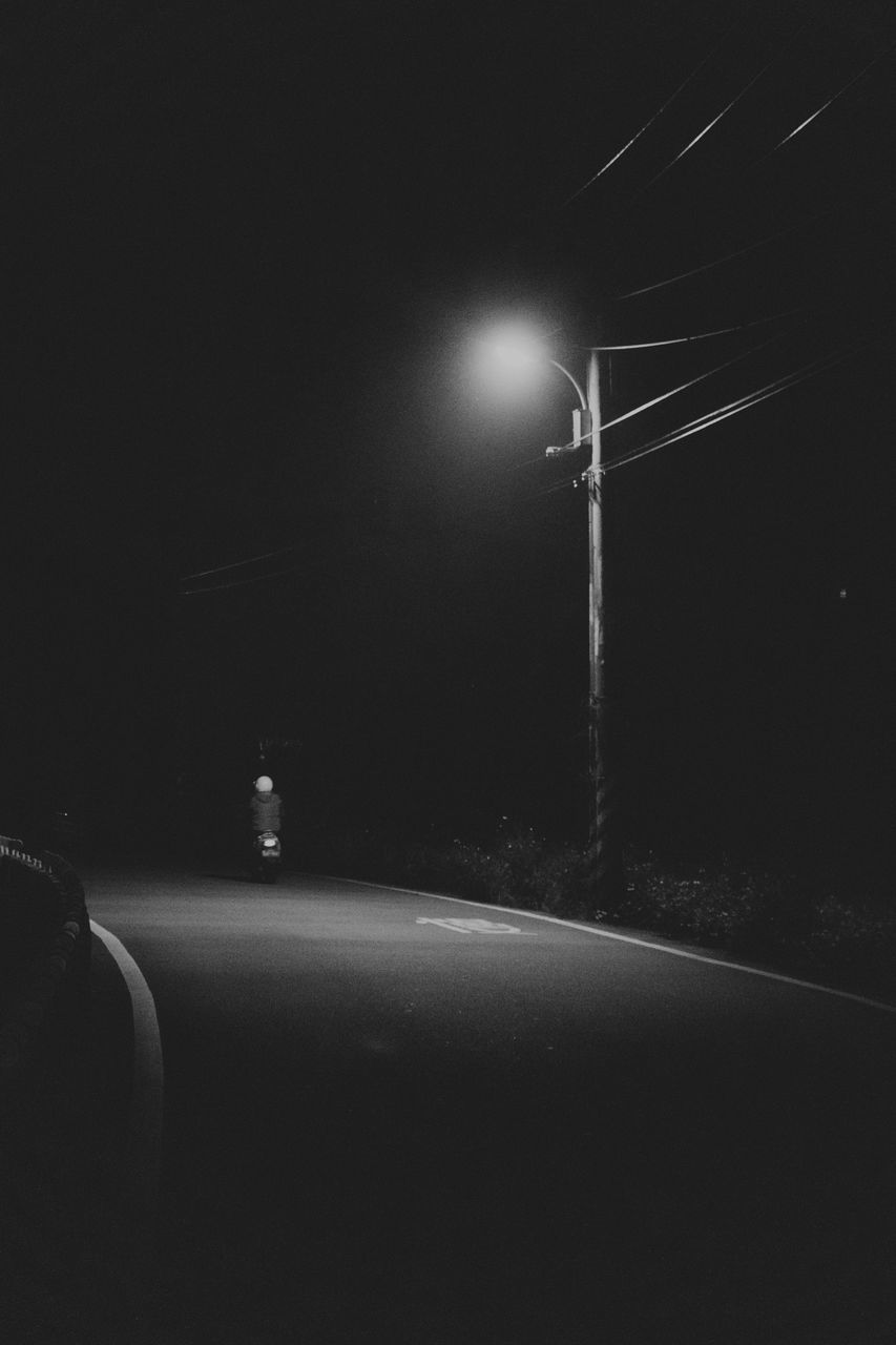 illuminated, night, no people, lighting equipment, street, street light, nature, sky, dark, road, light - natural phenomenon, glowing, electricity, technology, direction, transportation, light beam, the way forward, lens flare, copy space, brightly lit
