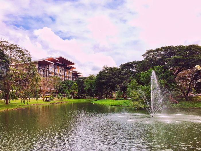 Shine ☺ Water Reflection Sky Architecture Building Exterior Nature Built Structure Cloud - Sky Waterfront Lake Outdoors Beauty In Nature Tree Tranquility Day Tranquil Scene Grass No People Philippines Jaysalvarez Photography