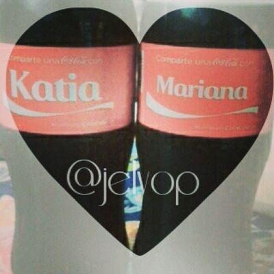 Compartecocacolacon Katia Mariana Prima te quiero te extraño, pronto nos vemos ♡