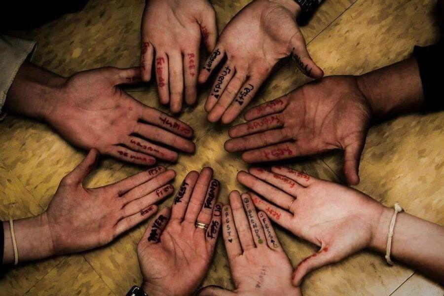 Faith Teens Youth Group Hands Circle