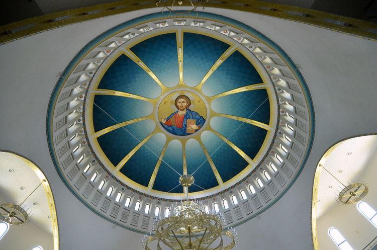 Tirana - Resurrection of Christ Greek Orthodox Cathedral (Kathedrale der Auferstehung Christi) 140701 Albania Auferstehung Christi Church Galpay Kathedrale Kilise Orthodox Cathedral Tirana