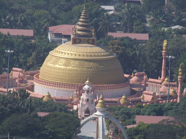Distant View of Conference Centre built for the World Buddhist Peace Conference Buddhism Buddhist Architecture Buddhist Art Buddhist Culture Building Exterior Built Structure Composition Conference Centre Distant View Dog Full Frame Gold Dome Hazy Day High Angle View Myanmar No People Ornate Architecture Outdoor Photography Religion Sagaing Spirituality Sunlight Travel Destination Tree World Buddhist Peace Conference