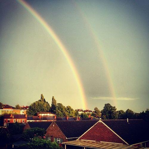 Double Summer Rainbow Rainbow Light Spectrum Summer evening x2