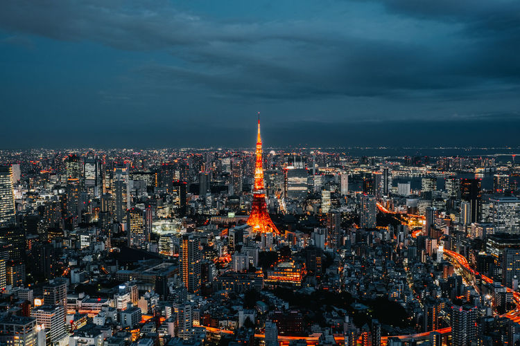 Tokyo Tokyo Tower Cityscape City Illuminated Astronomy Astrology Sign Urban Skyline Aerial View Sea Awe Sky Office Building Horizon Over Water Shore Skyscraper Ocean Milky Way Skyline Tall - High Downtown Galaxy Nebula Sagittarius Tower