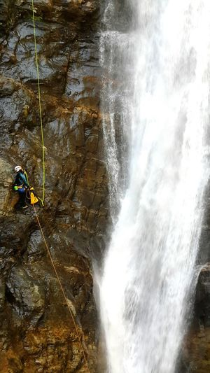 Despite The Odds Water_collection Waterfall Mist Waterfall Trip Abseiling Intrepid Explorer Bravery Courage👍 Don't Look Down Planning Preparation  Training Commitment Dedication