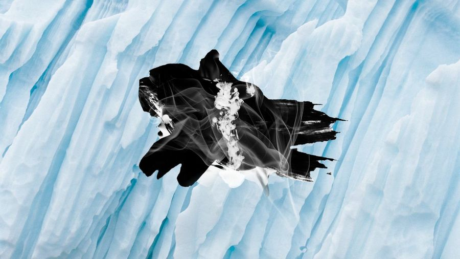 Ice Glacier Wall Formation Frozen Cold Freezing Arctic Paint Smoke Combo