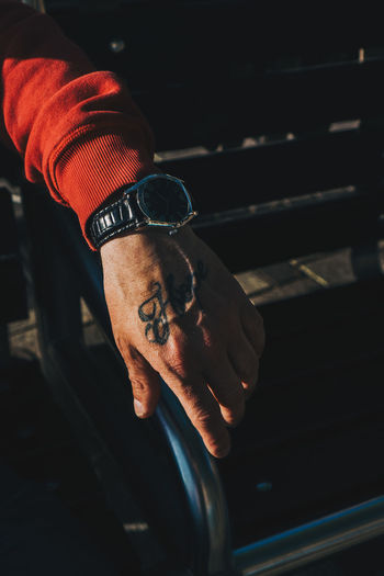 Luke's Hope Human Hand Hand One Person Indoors  Real People Human Body Part Men Lifestyles Focus On Foreground Tattoo Close-up Young Men Leisure Activity Young Adult Holding Time Watch Front View Portrait Finger Documentary Fashion Photojournalism