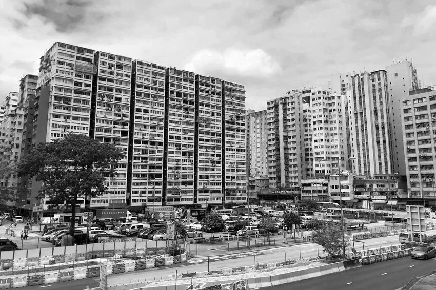The old residential blocks Monochrome Black And White Light And Shadow Architecture Built Structure Building Exterior Sky City Building Day Cloud - Sky Outdoors Residential District Development