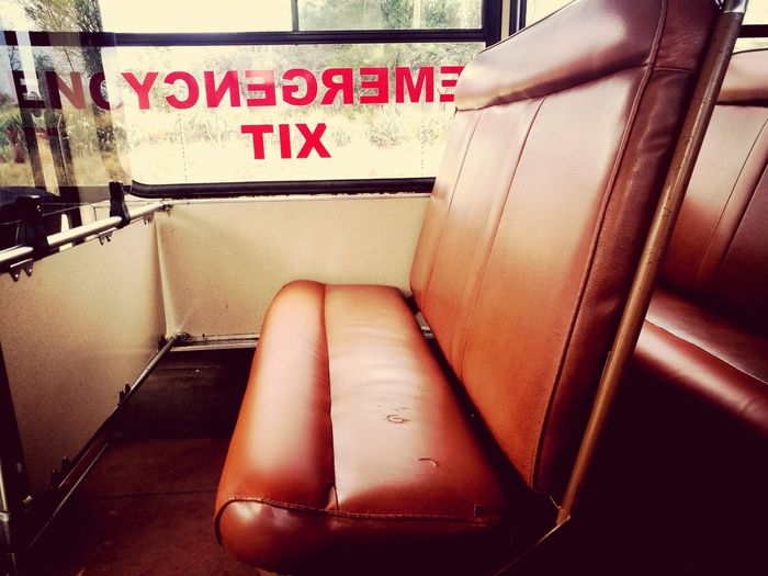 Age comes with beauty. When the leather ages well. Emergency TIX