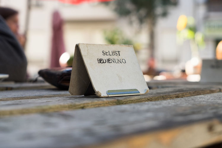 Board Cafe Communication Message Selective Focus Street Surface Level Text Western Script