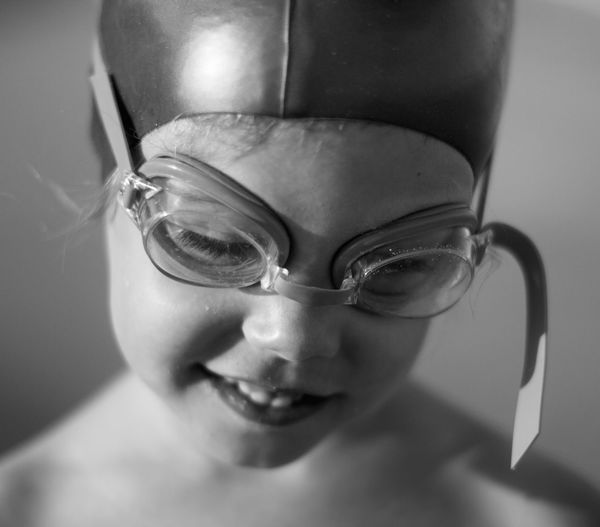 Close-Up Of Girls In Swimming Goggles