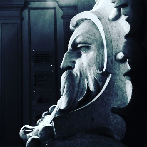 Blackandwhite Black And White Black & White Blackandwhite Photography Torino Nsnfotografie Bw_collection BW_photography Bw_lover Bw_architecture Architectural Detail Architecture_collection Palazzo Carignano Torino Palazzo Carignano Statue Statue Close-up Human Head
