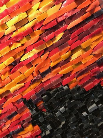 Stone fire Stone Art Color Explosion Fire Conceptual Decoration Warm Red Yellow Orange Color